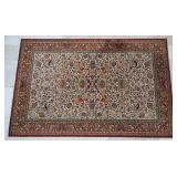 6 ft 6 in by 9 ft 11 in Wine Beige Weaved Area Rug