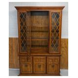 French Country Oak China Cabinet