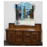 European Quarter Sawn Oak Dresser with Mirror
