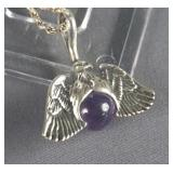 Sterling Silver Chain with Eagle Pendant Necklace