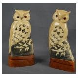 Water Buffalo Hand Carve Owl Sculptures