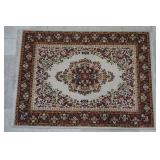 5 ft 7 in by 7 ft 6 in  Red Beige Weaved Area Rug