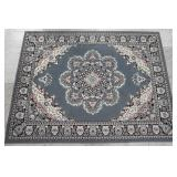 5ft 7in by 7ft 4in Grey Blue Weaved Area Rug