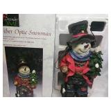 "December Home Fiber Optic Snowman 19"" Works"
