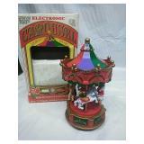 Electronic Christmas Carousel with Lights & Music