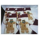 Set of 5 Gingerbread Men Stockings - NWT