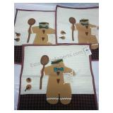 Set of 3 Gingerbread Men Pillow Covers 16x16 NWT