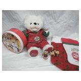Elvis Presley Blue Christmas Bear, Ceramic Bears,