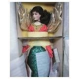 "Franklin Heirloom Dolls Porcelain Angel NIB 20"""