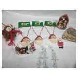Assorted Ornaments, Santa Necklaces and Decor