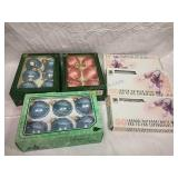 Assorted Ornaments and 3 White 50 count Light