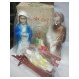 "Vintage 18"" Blow Mold Nativity Set No 1372"