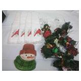 Fingertip Towels, Assorted Christmas Picks, and