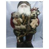 Grandeur Noel Collectors Edition Fabric Santa on