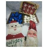 Silk & Glass Red, White and Blue Ornaments and
