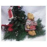Large  Handmade Xmas with Bear Scene Decor