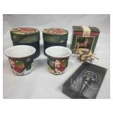 Pair of Lang Candles Porcelain Votive Holders,