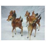 Set of 5 Vintage Plastic Deer - Made in