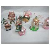 Old World Christmas and other Assorted Glass Pig
