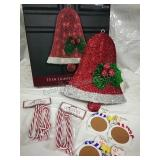 """Lighted Tinsel Bell 15"""", Candy Cane Ornaments"""