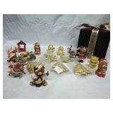 Assorted Ornaments and Velvet Keeper Box