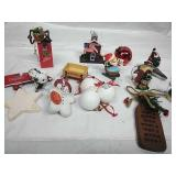 Taz, Golf Ball and other Assorted Ornaments