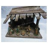 Vintage Made in Italy One Piece Nativity Scene