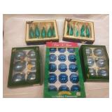Assorted Blue Glass Ornaments