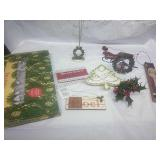 Set of 100 Clear Lights and Assorted Xmas Decor
