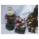Artificial Xmas Tree, Battery Operated Santa