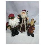Santa Tree Topper and Assorted Santa Decor