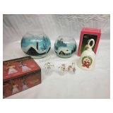 Angel Ornaments, Hand-Painted Candle Holders and