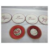 4 Piece Plate Set - Hope, Love, Peace and Joy and