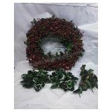 Christmas Berry Wreath and Candle Rings