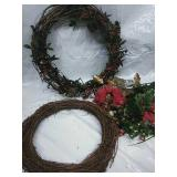 Decorated Wreath, Wreath and Assorted Picks