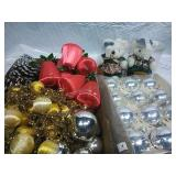 Assorted Bulbs, Garland Pinecones and Stuffed