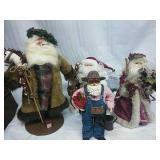 Assorted Santa Decor/Tree Topper