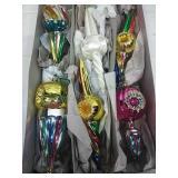 Set of 6 Glass Ornaments