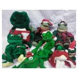 Assorted Stuffed Christmas Frog Decor