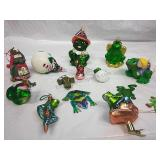 Assorted Frog Ornaments