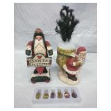 House of Hatten & other Santa Decor, and set of