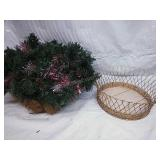 Hanging Artificial Xmas Plant and Gold Colored