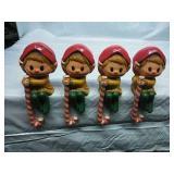 Vintage Hallmark Elf Shelf Sitters - Set of 4