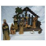 11 piece Vintage Nativity Scene