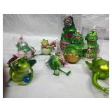 Assorted Frog Ornaments NWT