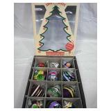 Christopher Radko Shiny Brite Glass Ornament Set