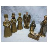 Set of Kingsmen Candlestick Holders, Angel and
