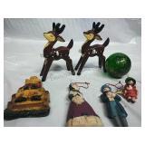 Napco Ceramic Reindeer, Carroler and other