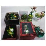 Assorted Glass Frog Ornaments