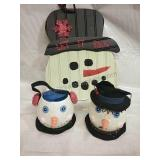 Pair of Department 56 Snowman Decor and Hanging
